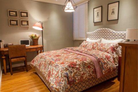 卧室地板砖美式风格装潢图片