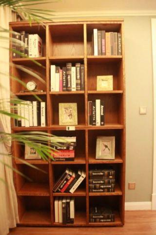 卧室博古架美式风格装修设计图片