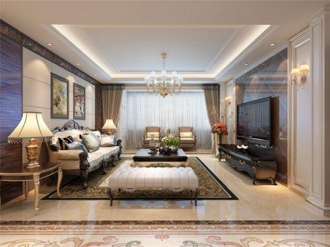 简欧风格165平米4房2厅房子装饰效果图