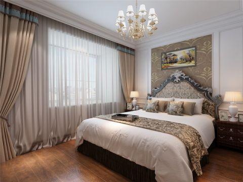 卧室地板砖简欧风格装潢效果图