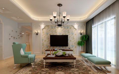 客厅吊顶田园风格装饰效果图