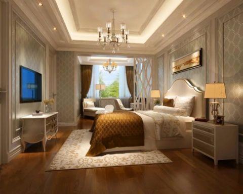 卧室吊顶欧式田园风格装潢效果图