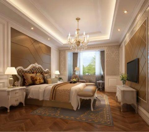 卧室背景墙欧式田园风格装饰图片
