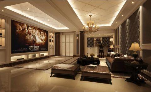 客厅茶几欧式田园风格装潢图片
