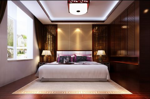 卧室窗帘新中式风格装修图片