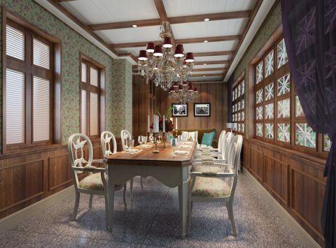 新中式风格茶餐厅装修效果图