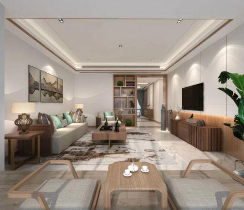 新中式风格133平米套房房子装饰效果图