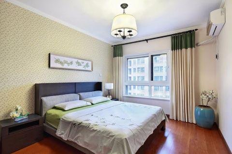 卧室窗帘美式风格装饰图片
