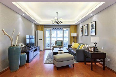 美式风格120平米小户型室内装修效果图