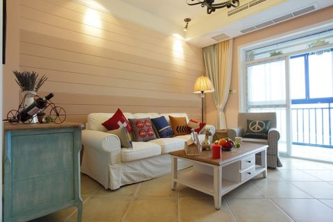 美式风格72平米两房两厅新房装修效果图