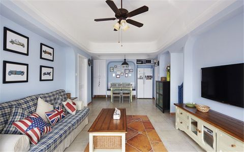 地中海风格90平米两室两厅室内装修效果图