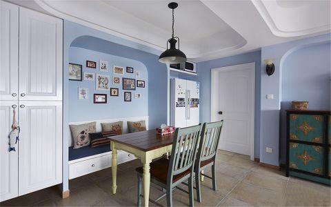 餐厅照片墙地中海风格装潢效果图