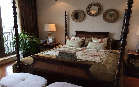 卧室背景墙美式风格效果图