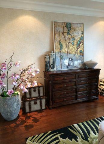 卧室地板砖美式风格装潢效果图