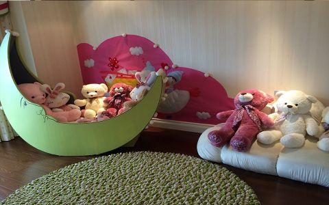 儿童房背景墙美式风格装修设计图片