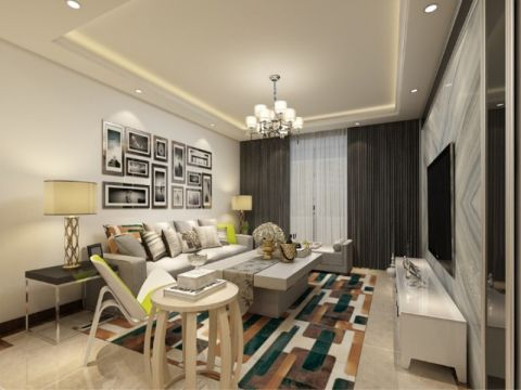 客厅照片墙现代风格装修效果图