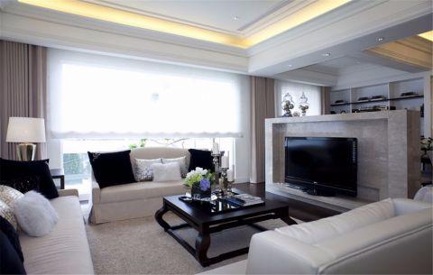 客厅窗帘简欧风格装饰设计图片