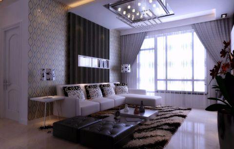现代风格110平米三房两厅新房装修效果图