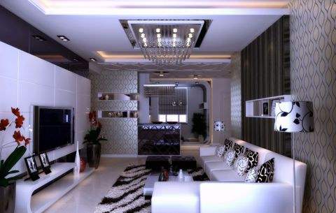 客厅吊顶现代风格装饰图片