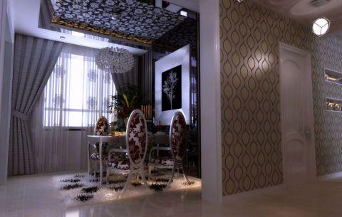 餐厅窗帘现代风格装潢图片