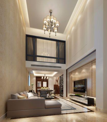 简欧风格200平米复式新房装修效果图