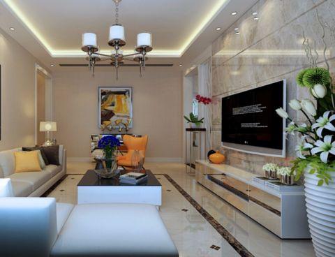 客厅灯具现代简约风格装潢图片