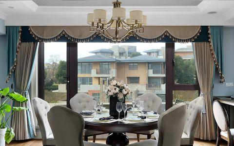 餐厅窗帘简约风格装修设计图片