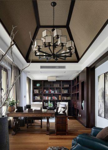 书房灯具简约风格装潢设计图片