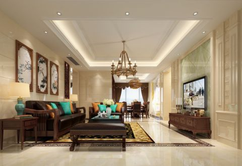 混搭风格150平米套房房子装饰效果图