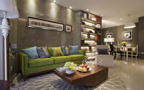 现代风格87平米两室两厅室内装修效果图