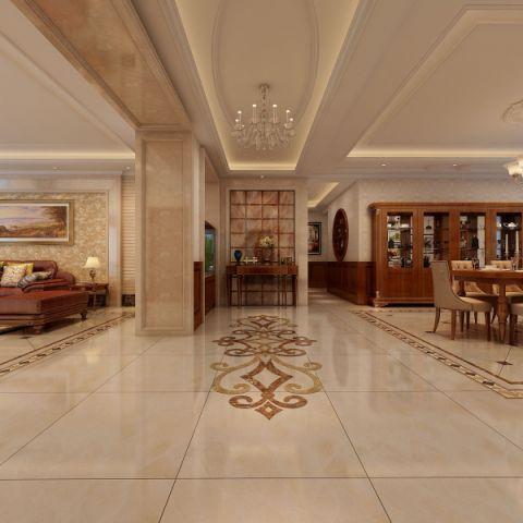 玄关地板砖简欧风格装饰设计图片