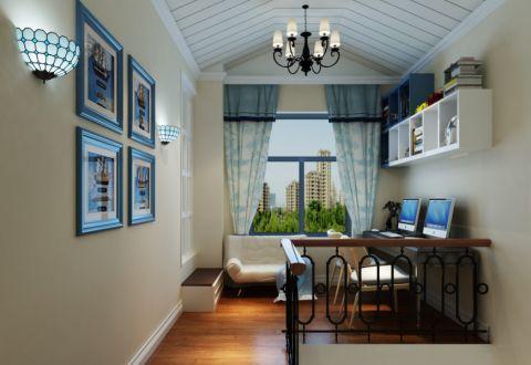 书房吊顶地中海风格装潢设计图片