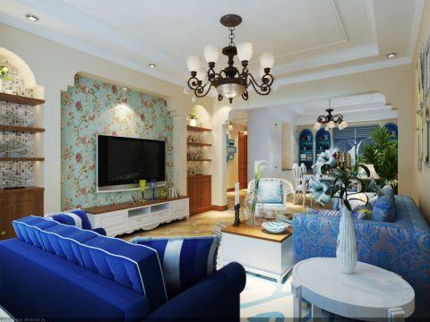 地中海风格159平米复式室内装修效果图