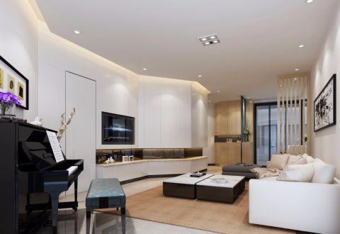 现代风格80平米小户型室内装修效果图