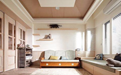 美式风格107平米小户型新房装修效果图