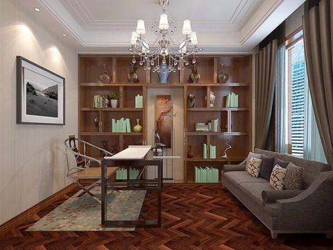 书房窗帘现代风格装潢图片