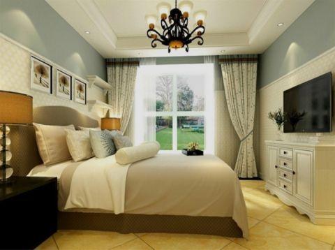卧室窗帘田园风格效果图