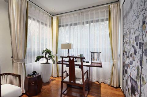 书房窗帘新中式风格装饰图片