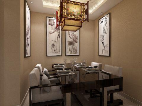 餐厅背景墙中式风格装饰图片