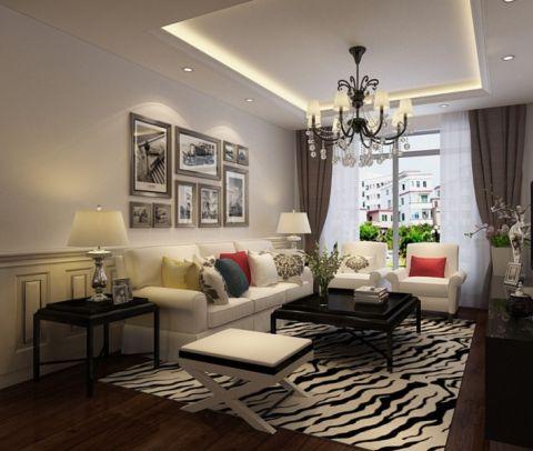 现代简约风格90平米三房两厅新房装修效果图