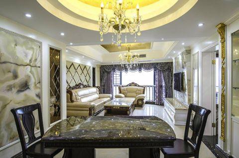 欧式风格110平米三室三厅室内装修效果图