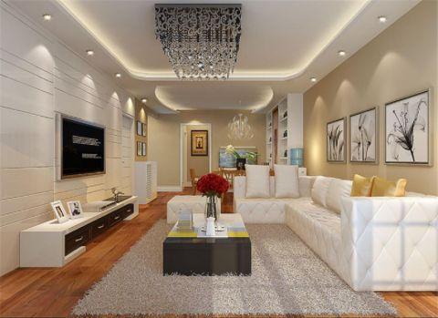 现代风格80平米两室两厅室内装修效果图