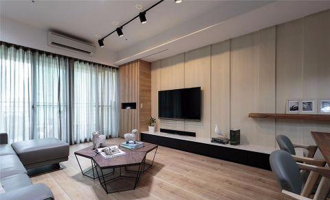 混搭风格100平米三房两厅新房装修效果图