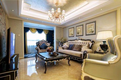 新古典风格130平米2房2厅房子装饰效果图