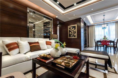新中式风格119平米3房2厅房子装饰效果图