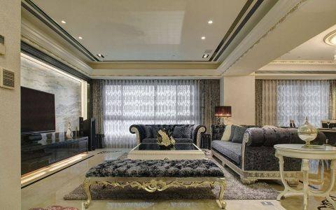 简欧风格110平米三房两厅新房装修效果图
