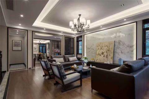 新中式风格248平米别墅室内装修效果图
