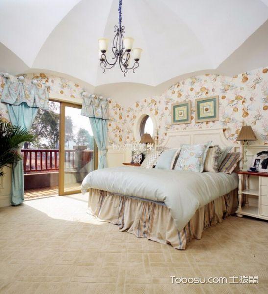 卧室 吊顶_地中海风格125平米套房房子装饰效果图