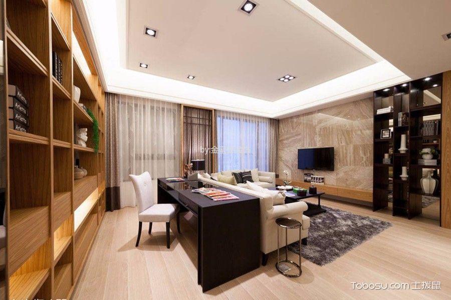 客厅白色吊顶日式风格装潢设计图片