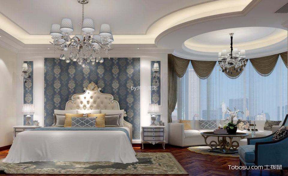卧室白色吊顶北欧风格效果图